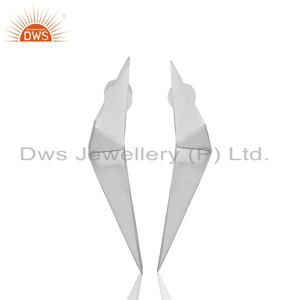 Solid Plain 92.5 Sterling Silver Designer Customized Earring Wholesale