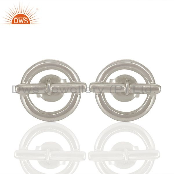 Mini Chaine D Ancre 925 Sterling Silver Stud Earring Jewelry