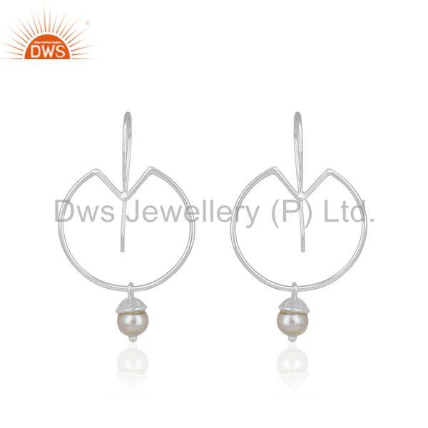 Natural Pearl 925 Sterling Fine Silver Handmade Earring Jewelry Wholesale India