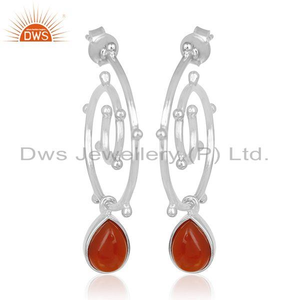 Chalcedony Gemstone Sterling Silver Designer Women Earring Jewelry Manufacturers
