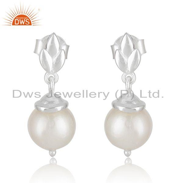 Natural Pearl Fine Sterling 925 Silver Designer Earrings Manufacturer