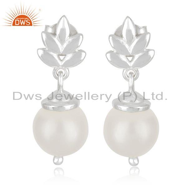 Customized Sterling Fine 925 Silver South Sea Pearl Girls Earrings