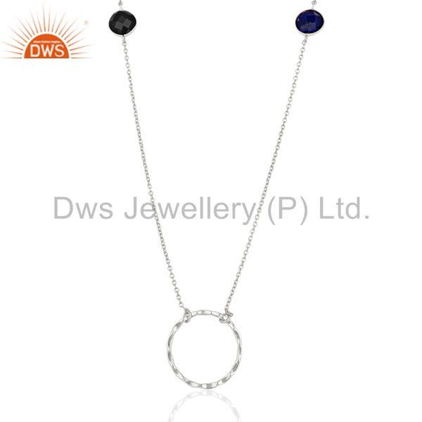 Handmade Gemstone 925 Sterling Fine Silver Necklace Jewelry Supplier
