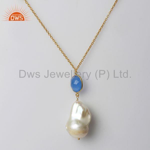 Freshwater Pearl Gemstone 925 Silver Necklace Jewelry Manufacturer