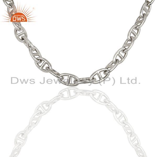 Chaine d Ancre 925 Sterling Silver Necklace Jewelry