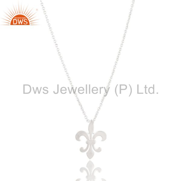 Unique Style Chain Pendant Necklace Jewelery Made In Solid 925 Sterling Silver