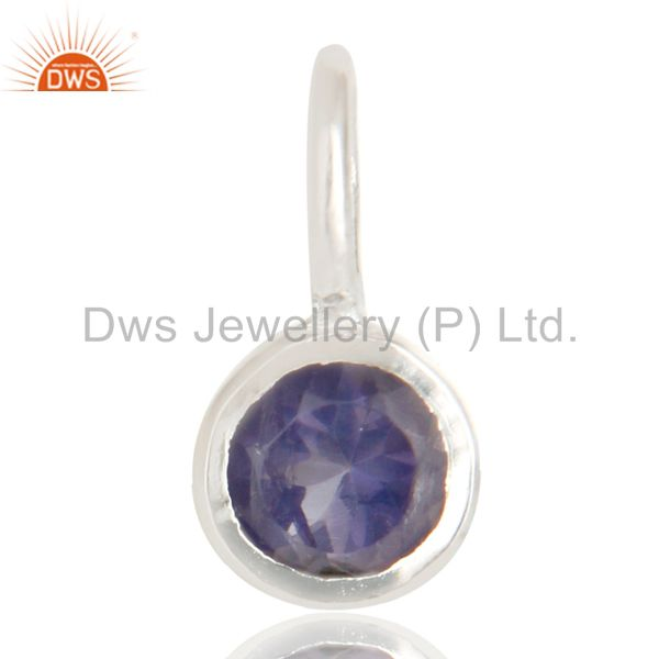 Beautiful Handmade Solid 925 Sterling Silver Iolite Connector Pendant Jewelry