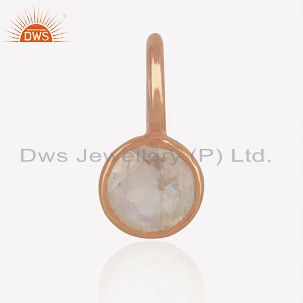 Rainbow Moonstone Rose Gold Plated 925 Silver Jewelry Findings Manufacturer