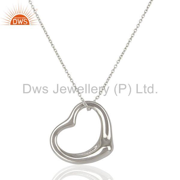 Plain Silver Jewelry Pendant And Necklace Manufacturer