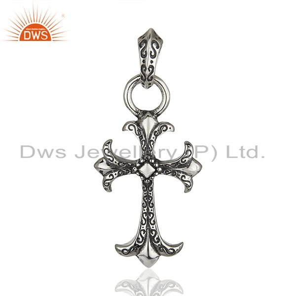CH Cross 925 Sterling Silver Pendant And Necklace Jewelry