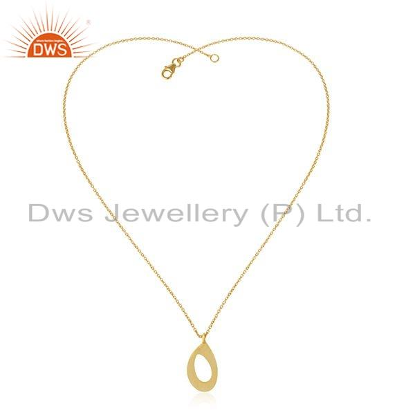 Designer Gold Plated 925 Sterling Silver Womens Chain Pendant Jewelry