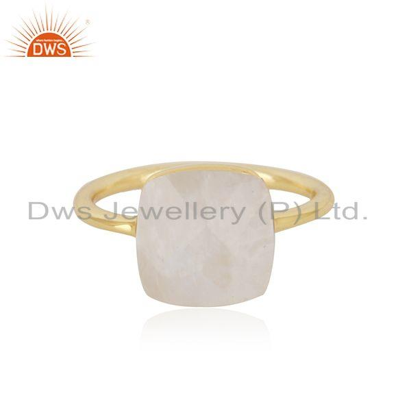 Rainbow Moonstone Gold Plated 925 Sterling Silver Girls Ring Wholesale