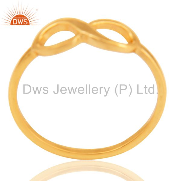 14K Yellow Gold Plated Sterling Silver Handmade Without Stone Infinity Toe Ring