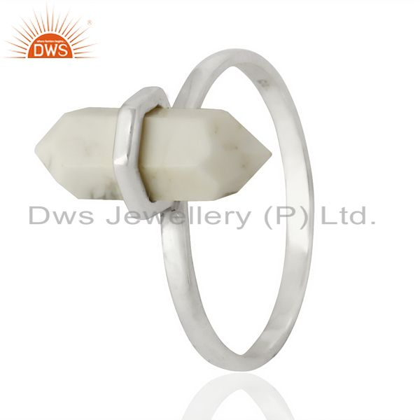 Howlite Terminated Pencil 92.5 Stelring Silver Wholesale Ring Jewelry