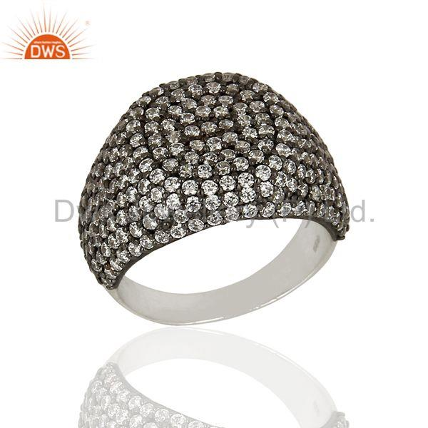 Handmade Sterling Fine Silver Cz Gemstone Rings Supplier Manufacturer