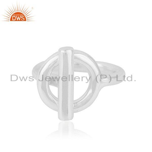 Handmade 925 Sterling Silver Fine Silver Designer Ring Wholesale Suppliers India