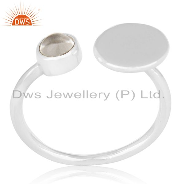 2017 New Design 925 Silver Crystal Adjustable Ring Wholesale Suppliers