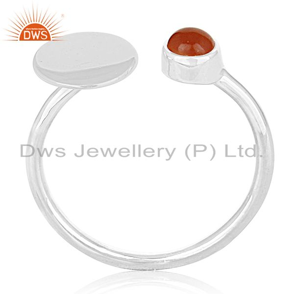 Customized 925 Silver Gemstone Adjustable Ring Jewelry Manufacturers