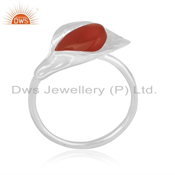 Designer Floral Sterling Silver Private Label Ring Manufacturer from India