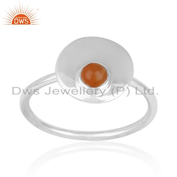 Handmade Fine Sterling Silver Chalcedony Gemstone Ring Manufacturers