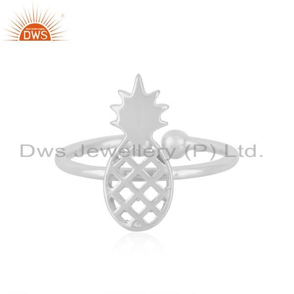 Wholesale Fine Silver Pineapple Design Adjustable Ring Jewelry