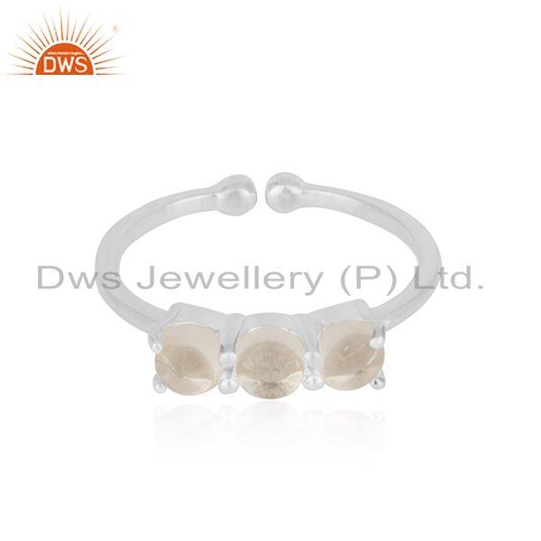 Crystal Quartz Gemstone 925 Sterling Fine Silver Ring Wholesale Suppliers