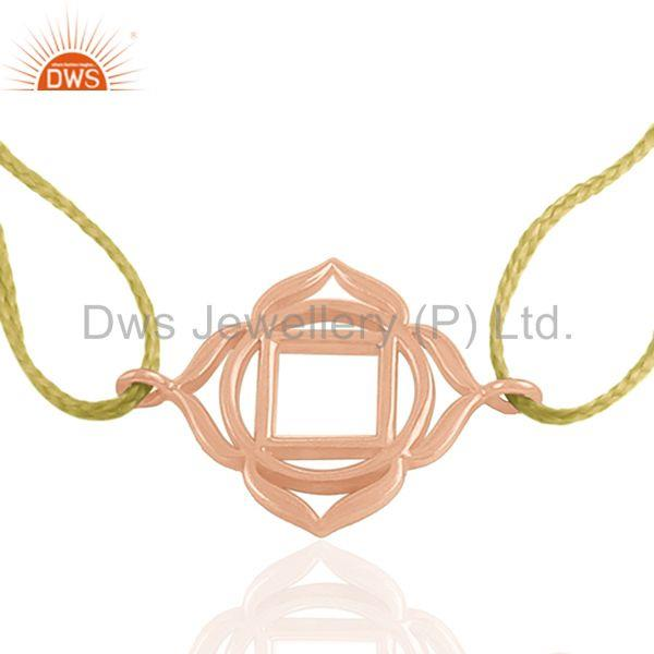 Rose Gold Plated Charm Bracelet Silver Jewelry Manufacturer from India
