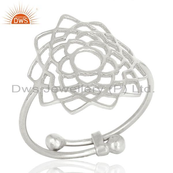 Fligree Design Fine Sterling 92.5 Silver Customized Ring Manufacturer in India