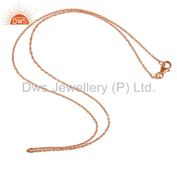 Rose Gold Plated Solid Sterling Silver Chain Jewelry Assesories Findings