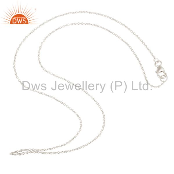 Solid 925 Silver Link Chain Jewelry Findings Assesories