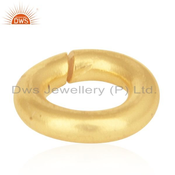 18K gold Plated Sterling Silver Link Kadi Assesories and Finding for Jewelry