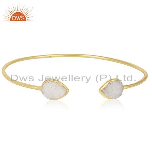 18k Gold Plated 925 Sterling Silver Cuff Bracelet Manufacturers