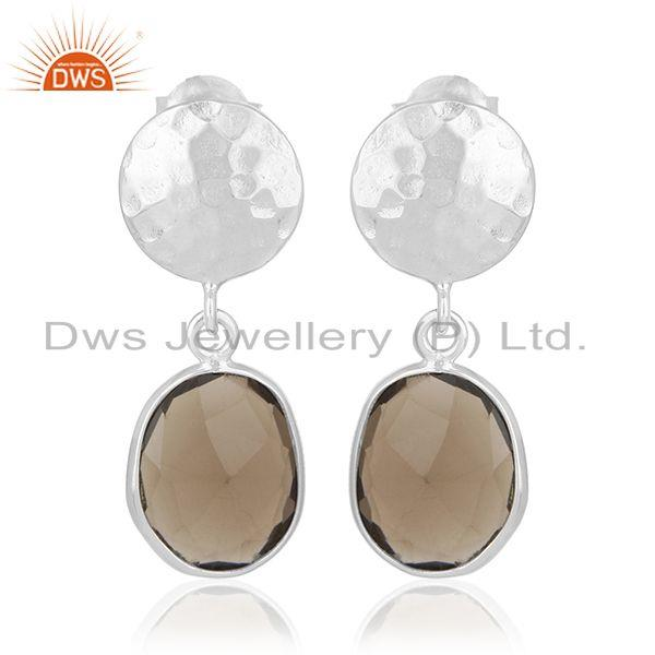 92.5 Sterling Silver Earrings Jewelry Manufacturer for Retailers from India