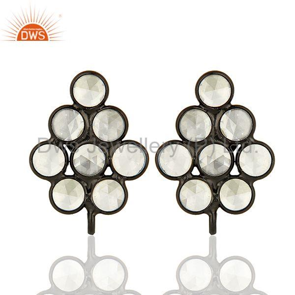 925 Sterling Silver Zircon Gemstone Designer Womens Earrings Supplier