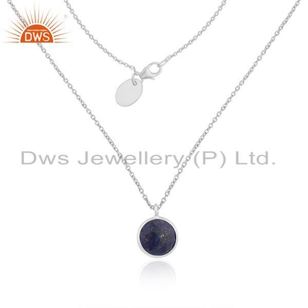 Lapis Lazuli Gemstone Fine Sterling Silver Chain Necklace Pendant Manufacturer