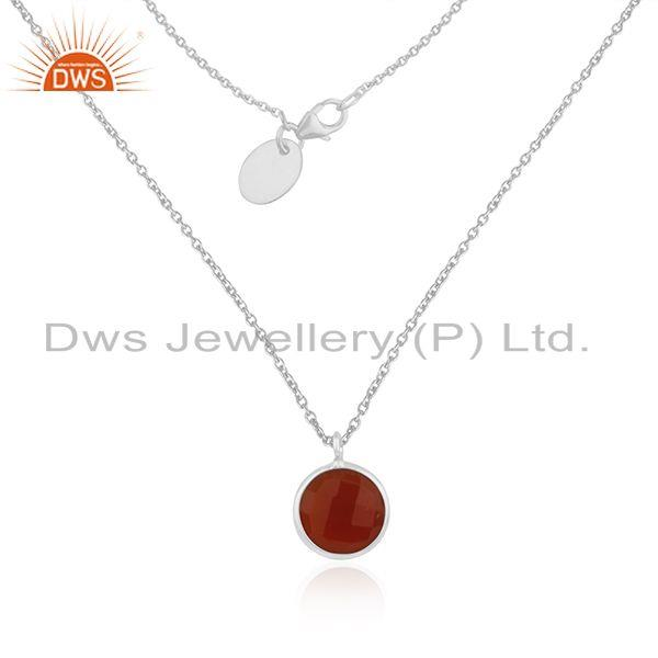 Red onyx gemstone 925 sterling silver pendant wholesale aloadofball Image collections