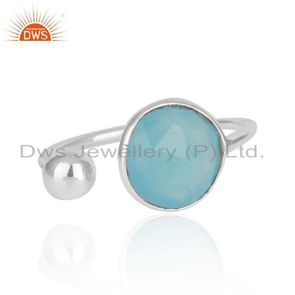 New Arrival Fine Sterling Silver Designer Gemstone Ring Manufacturer