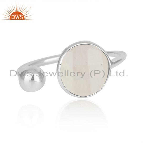 Rainbow Moonstone Handmade Fine Sterling Silver Ring Manufacturer