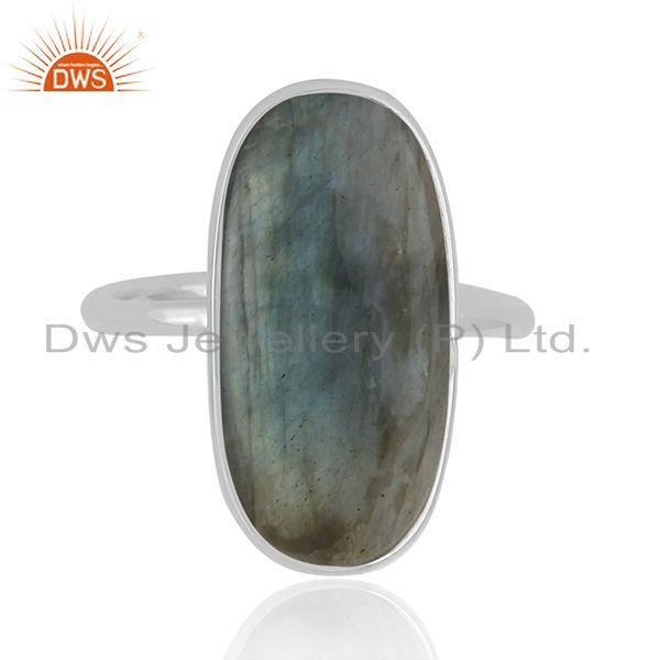 Handmade Fine Sterling Silver Labradorite Gemstone Statement Ring