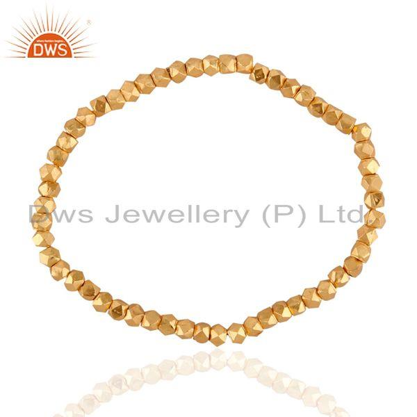 18k Yellow Gold-Plated Balls Stretch Bracelet