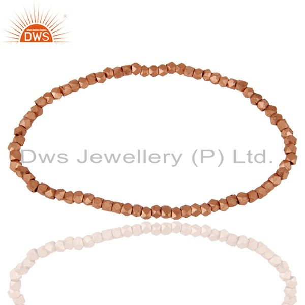 18K Rose Gold Plated Brass Womens Fashionable Stretch Bracelet