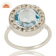NaturalBlue Topaz Ring