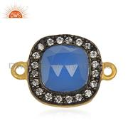 Black Rhodium and Gold Plated Brass Fashion Gemstone Connectors Manufacturers