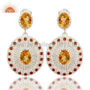 Citrine earring Wholesalers