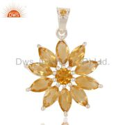 Citrine Pendant And Necklace