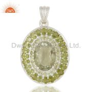 Green Amethyst Daily Wear Pendant And Necklace