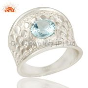 Handcrafted Blue Topaz Ring