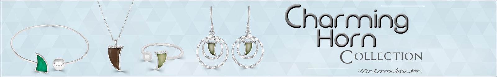 Designer Horn Gemstone Silver Jewelry Online Exporter, Supplier in India
