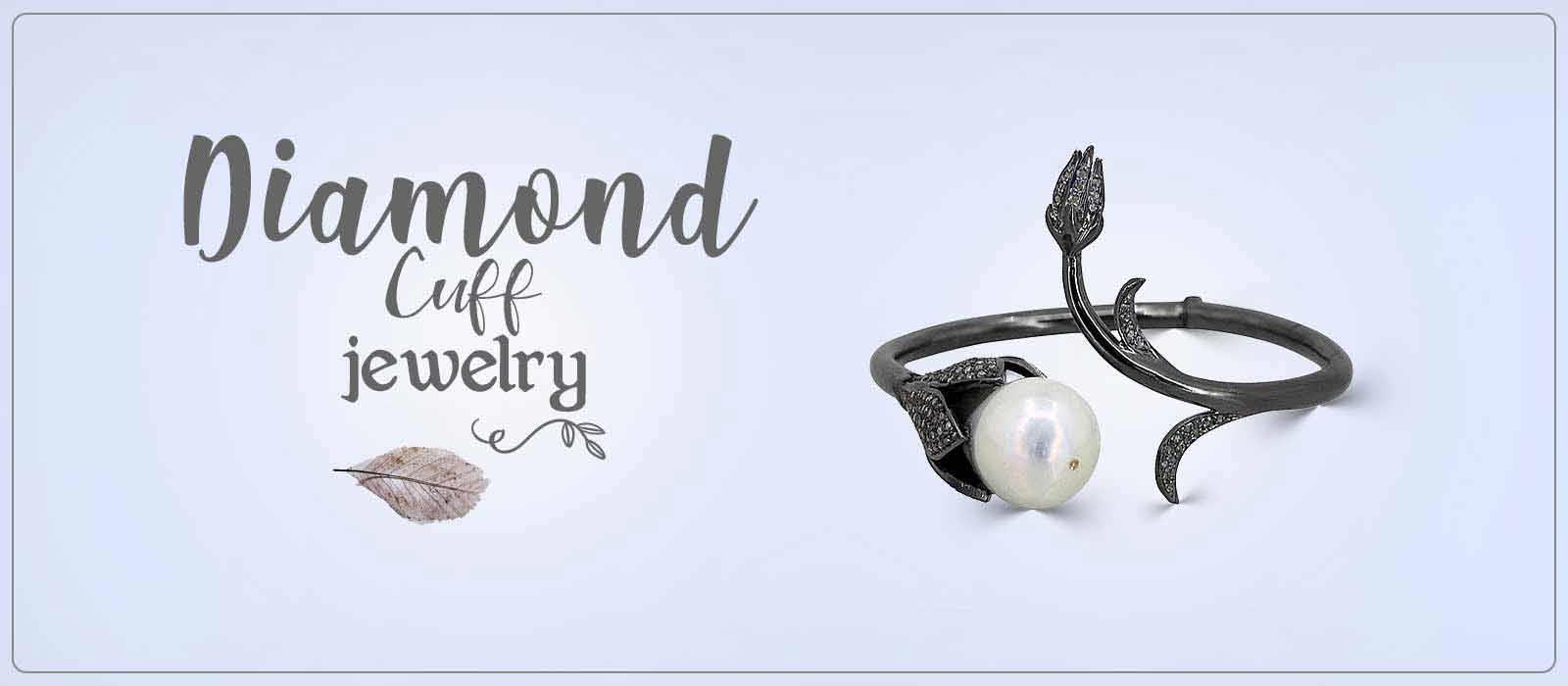 Diamond cuff jewelry