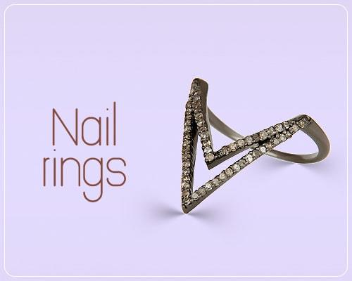 designer nail rings jewelry